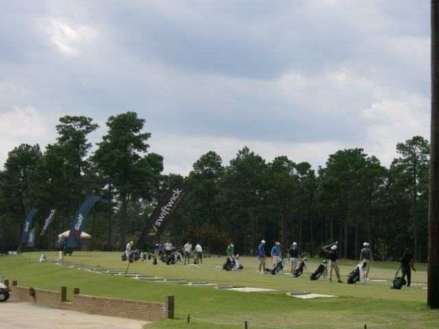 A view of the driving range tees at Woodside Plantation Country Club