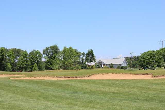 A view from the 6th fairway with the clubhouse in the distance at High Point Golf Club