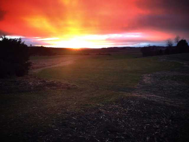 Sunset view at Maverston Golf Course