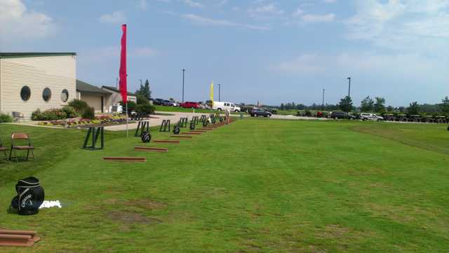 A view of the driving range tees at Lost Marsh Golf Course