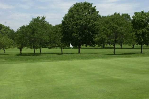 A view of a hole at Billy Caldwell Golf Course