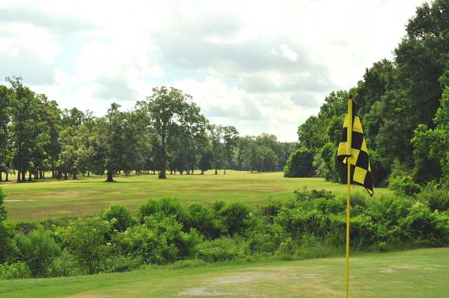 A view from a green at Dumas Memorial Golf Course