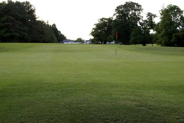 A view of the 1st green at Portadown Golf Club