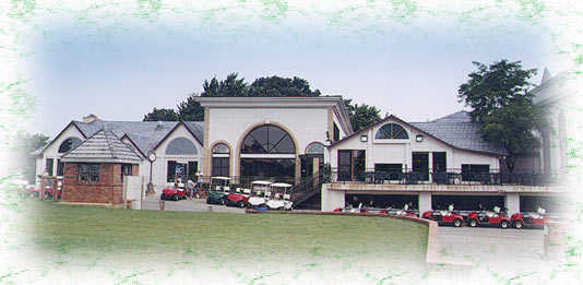 A view of the clubhouse at Hickory Hills Country Club