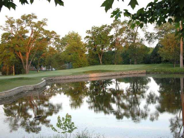 A view over the water from Flag Creek Golf Course