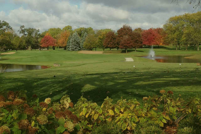 A view of a tee at Glenview Park Golf Club