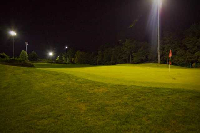 A view of the 3rd green at Golf Center Des Plaines Par-3 Course