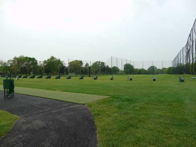 A view of the driving range at Silver Lake Country Club