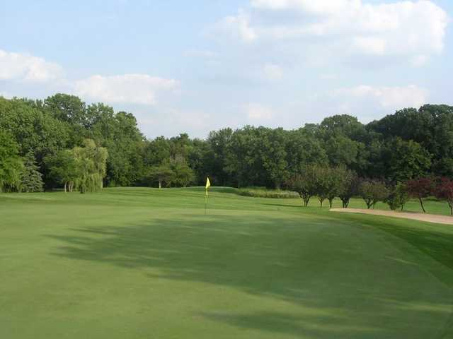A view of a hole at Silver Lake Country Club