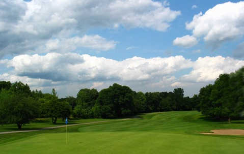 A view of hole #9 at Course #1 from Cog Hill Golf and Country Club