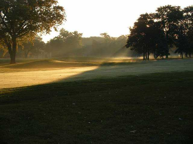 A view of a fairway at Calumet Country Club