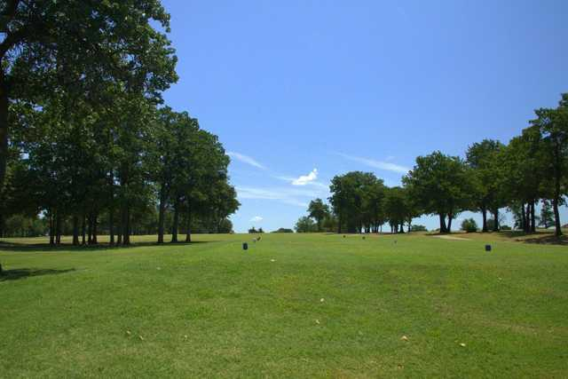 A view of a tee at Choctaw Creek Golf Course
