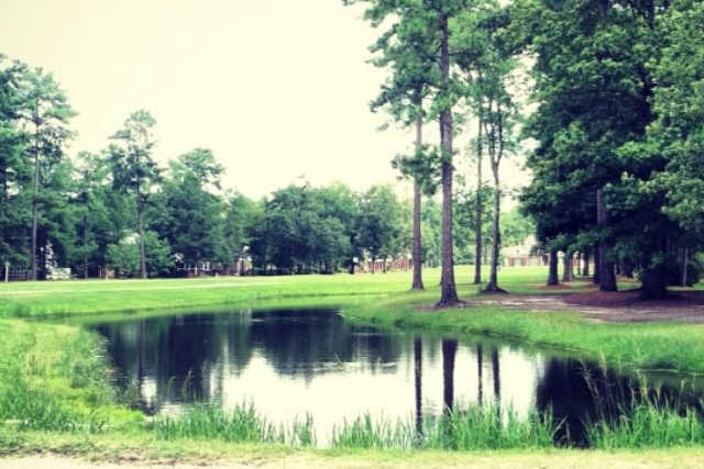 A view of the 11th fairway at Baywood Golf Club