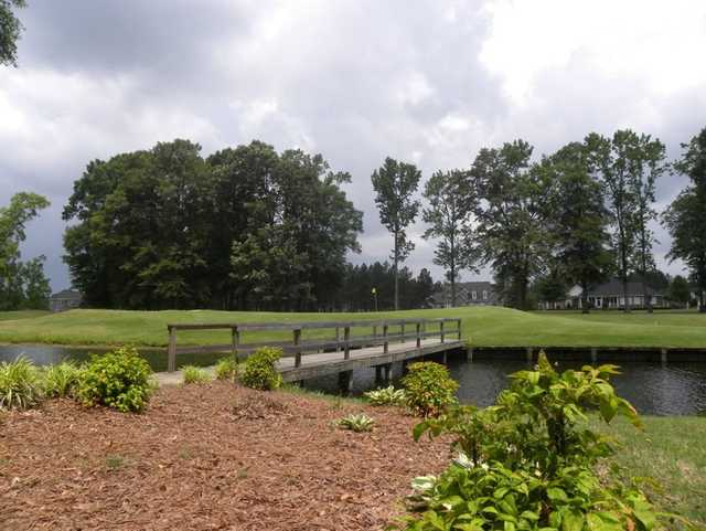 A view over a bridge at Baywood Golf Club