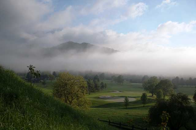 A foggy view from RedTail Mountain Golf Club
