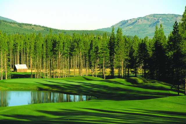 A view of the 4th green at Ridge Course from Pole Creek Golf Club