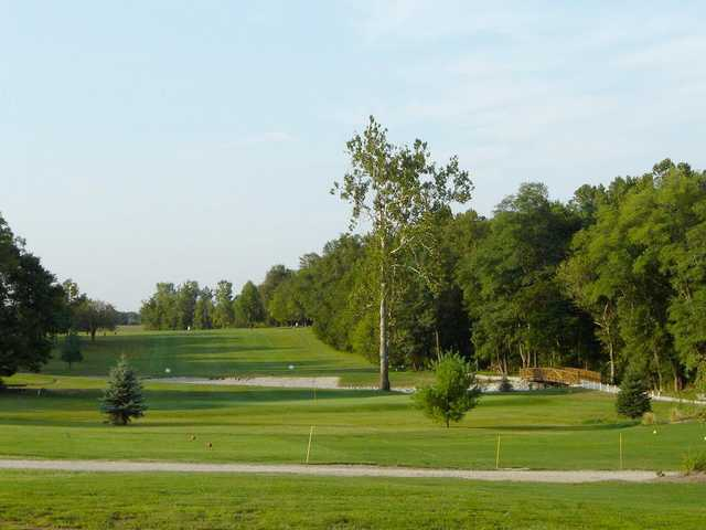 A view of a tee at Angel Hill Golf Course