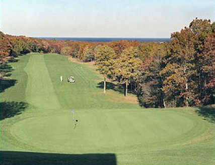 A view of green #9 at Sandwich Hollows Golf Club