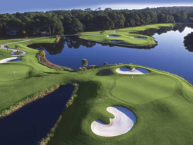 Robert Trent Jones Oceanfront Course at Palmetto Dunes Oceanfront Resort, Holes #9, #11 and #12