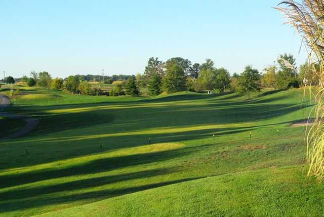 A view of the 1st fairway at Acorns Golf Links