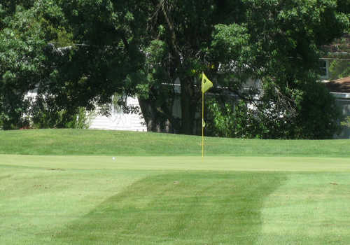 A view of a hole at Streamwood Oaks Golf Club