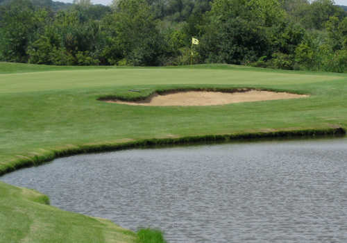 A view over the water from Streamwood Oaks Golf Club