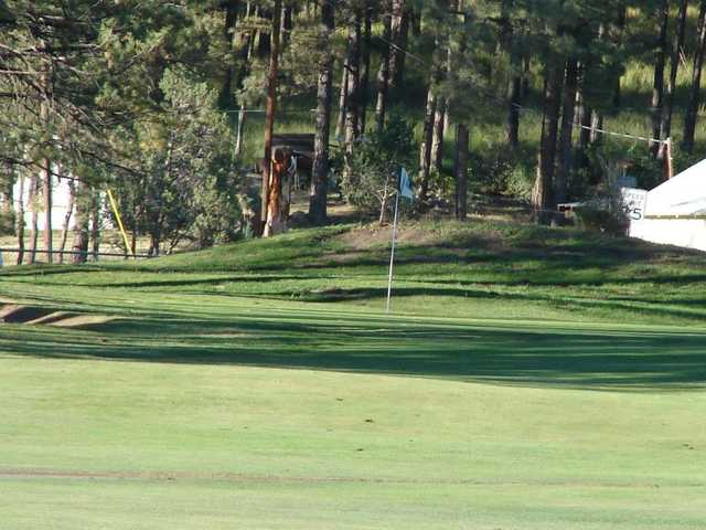 A view of a hole at Sammy Baugh Golf Course from Western Texas College