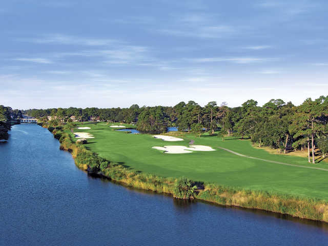 George Fazio Golf Course at Palmetto Dunes Oceanfront Resort, Hole #16.