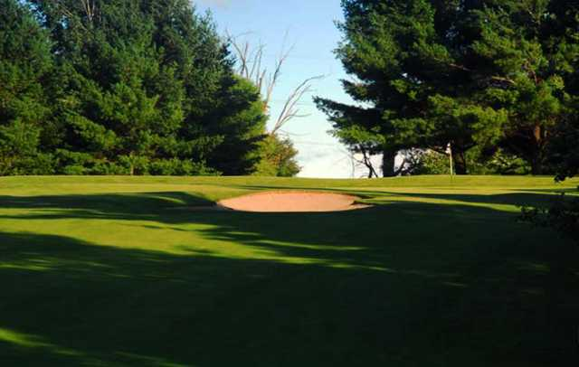 A view of a green at Foxwood Golf Club