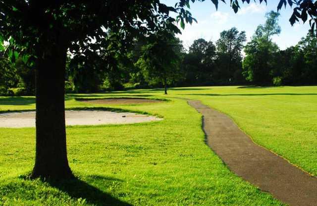 A view of a fairway at Beaverdale Golf Club