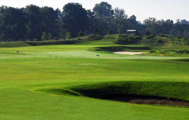 A view of a tee at Grey Silo Golf Course