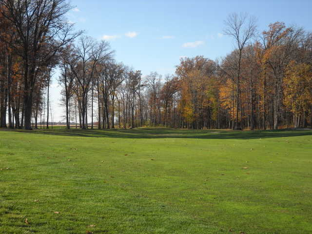 A view of a fairway at Stone Ridge Golf Club