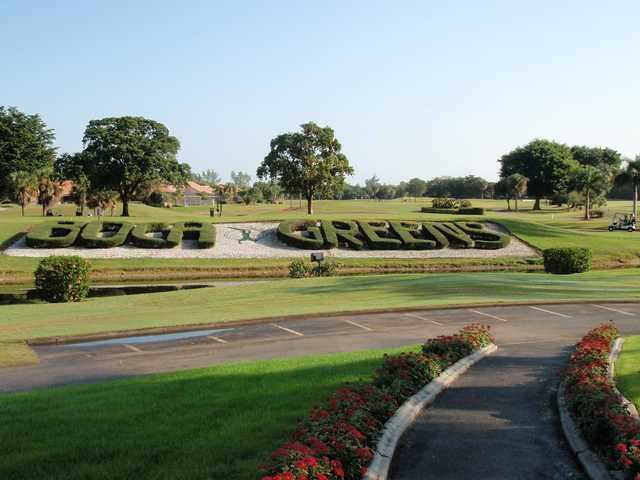 A view of a tee at Boca Greens Country Club
