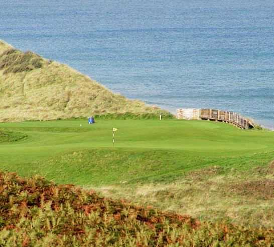No. 5 on the Dunluce Links at Portrush G.C. is one of the most stunning par fours in golf.