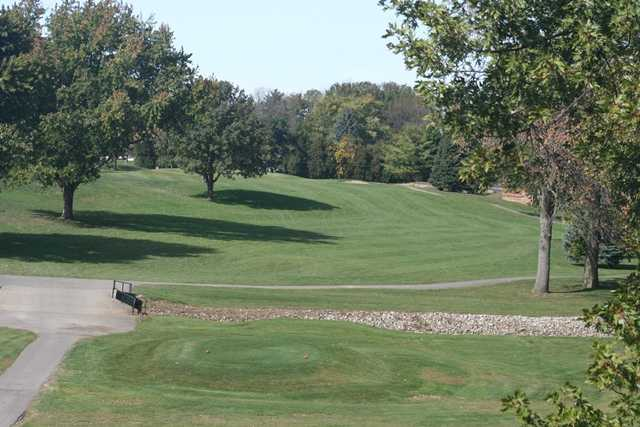 A view from the 18th tee at Kokomo American Legion Golf Course