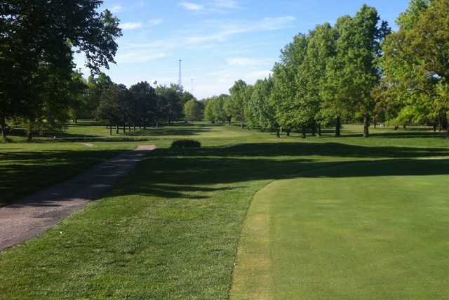 A view from the practice area at Sullivan Golf Club
