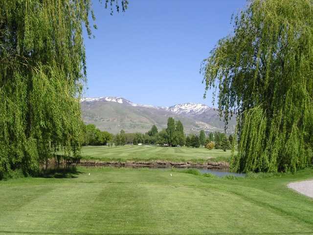 A view from a tee at Lakeside Golf Course