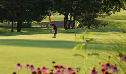 A view of a green at Atwood Homestead Golf Course (Rockrivergolftrail)