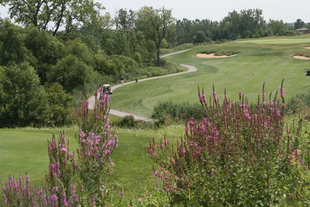 A view of a fairway at Centennial Park Golf Course