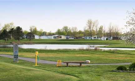 A view of a tee at Golf Vista Golf Course