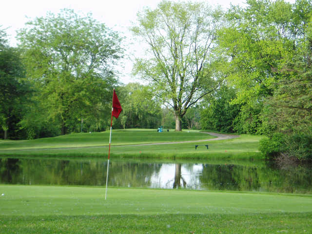 A view of a green at Willow Run Country Club