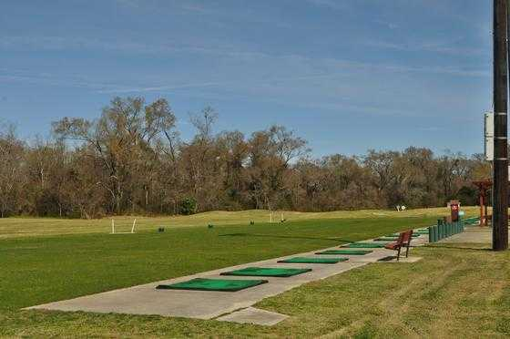 A view of the driving range tees from J.S. Clark Park Golf Course