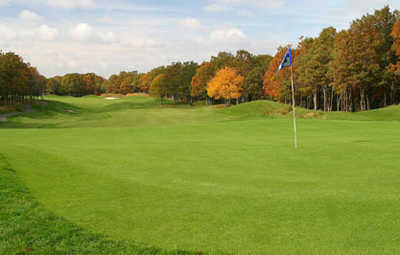 A view of the 15th green at Ridge Club