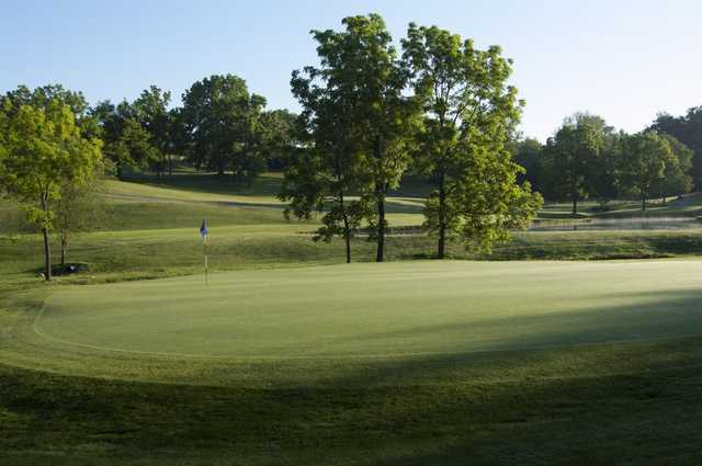 A view of a green at Westminster National Golf Course