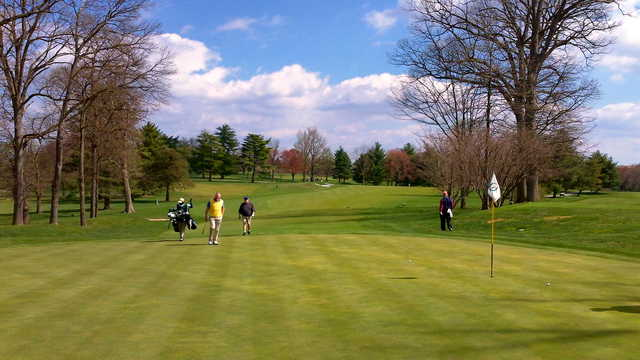 A view of a green at Woodholme Country Club