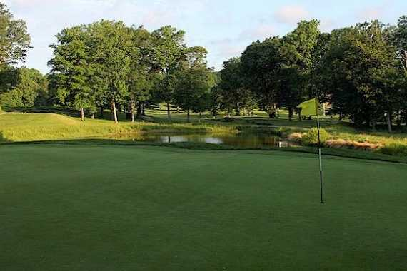 A view of a hole at Bay Hills Golf Club