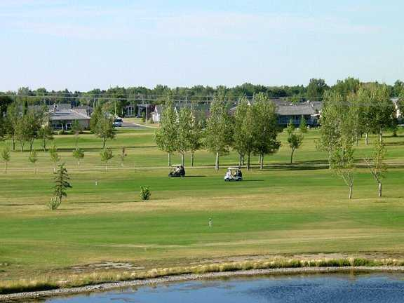 A view from the Bridges at Claresholm Golf Course