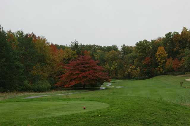 A view from a tee at Powderhorn Golf Course