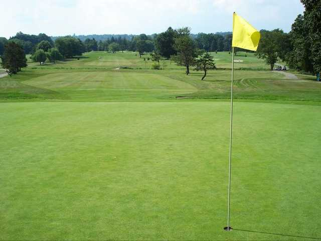 A view of a green at Preakness Valley Golf Course