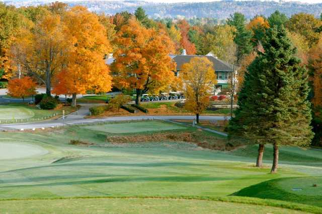 A fall view from a tee at Martindale Country Club